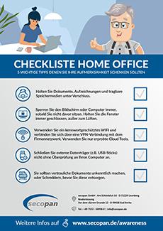 secopan Home Office Checkliste Sicherheit